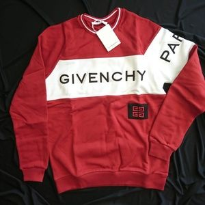GIVENCHY MEN'S SWEAT RED WHITE %100 CTN LARGE